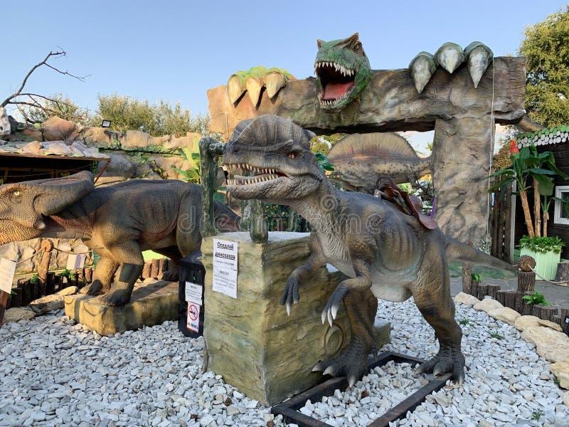 "Anapa, Ρωσία, Ιούλιος 22, 2019 Θέρετρο Anapa, πάρκο ""Rex ""Μαύρης Θάλασσας δεινοσαύρων στοκ εικόνες με δικαίωμα ελεύθερης χρήσης"