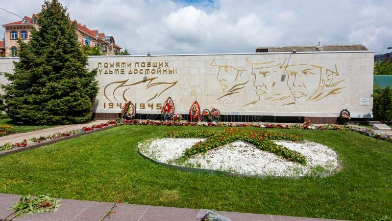 Anapa, Россия - 13-ое мая 2019: Массовое захоронение 45 советских солдат, Anapa, пересечения Ленин и советских улиц E стоковые изображения