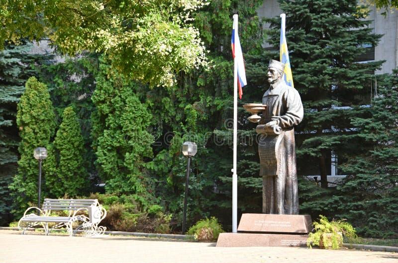 Anapa, Russia, July, 18, 2018.The monument to V. A. Budzinskiy in summer. Health Resort `Kuban`. The City of Anapa. Krasnodar regi stock photos