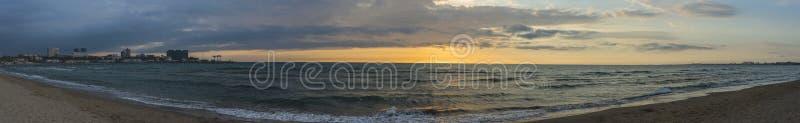 Anapa, Russia - May 5, 2019: Anapa City beach. Panorama royalty free stock image