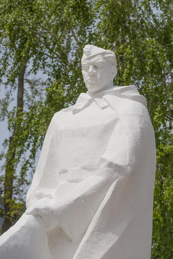 Anapa, Russia, 9 may 2018. monument to soldiers of the red army royalty free stock images