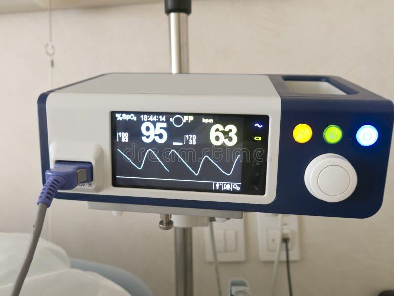 Anapnotherapy system Bildskärm med baserade vård- data royaltyfri bild