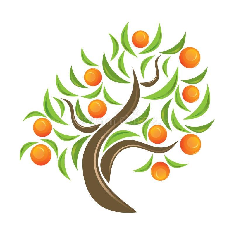 Anaranjado-árbol. ilustración del vector