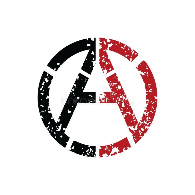 Anarchia ateizmu Socjalistyczny logo - logotyp ilustracja wektor