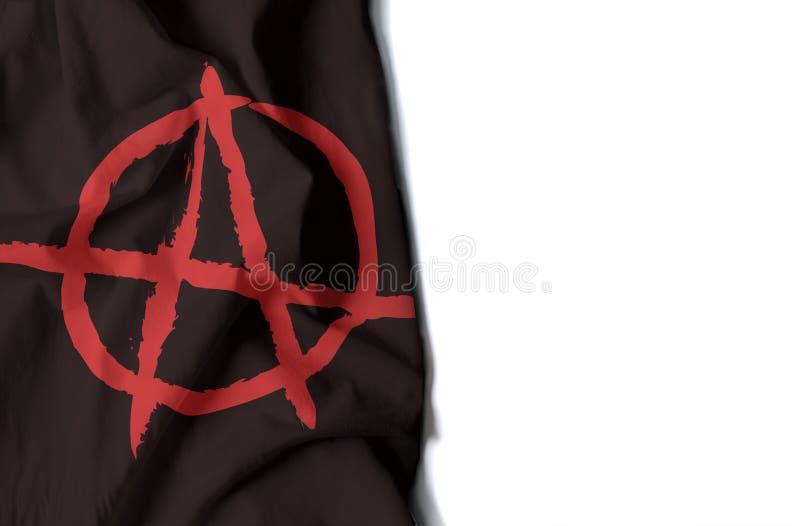 anarchia marszcząca flaga, przestrzeń dla teksta zdjęcia stock