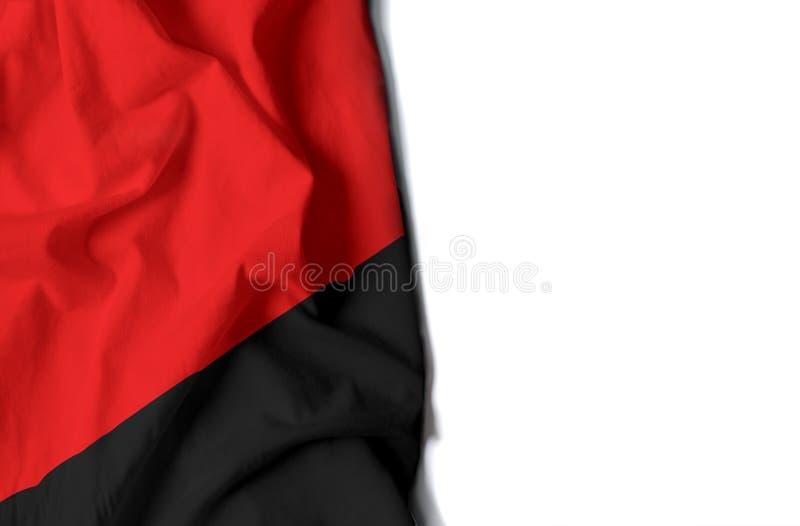 anarchia marszcząca flaga, przestrzeń dla teksta zdjęcie stock