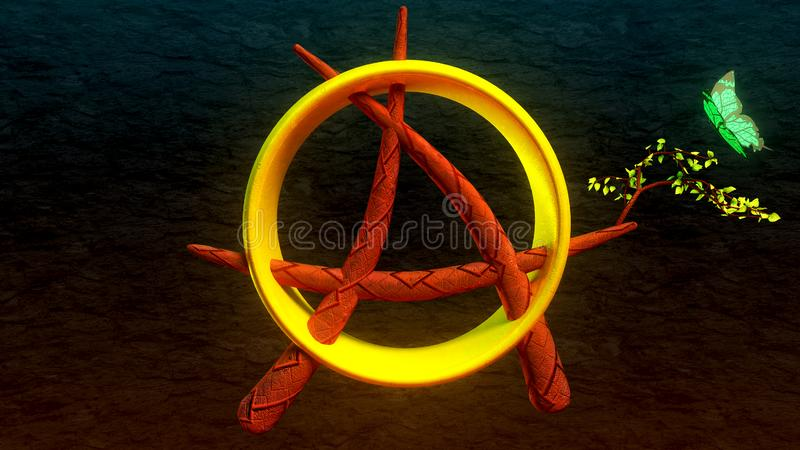 Anarchisty ringowy motyl obraz royalty free