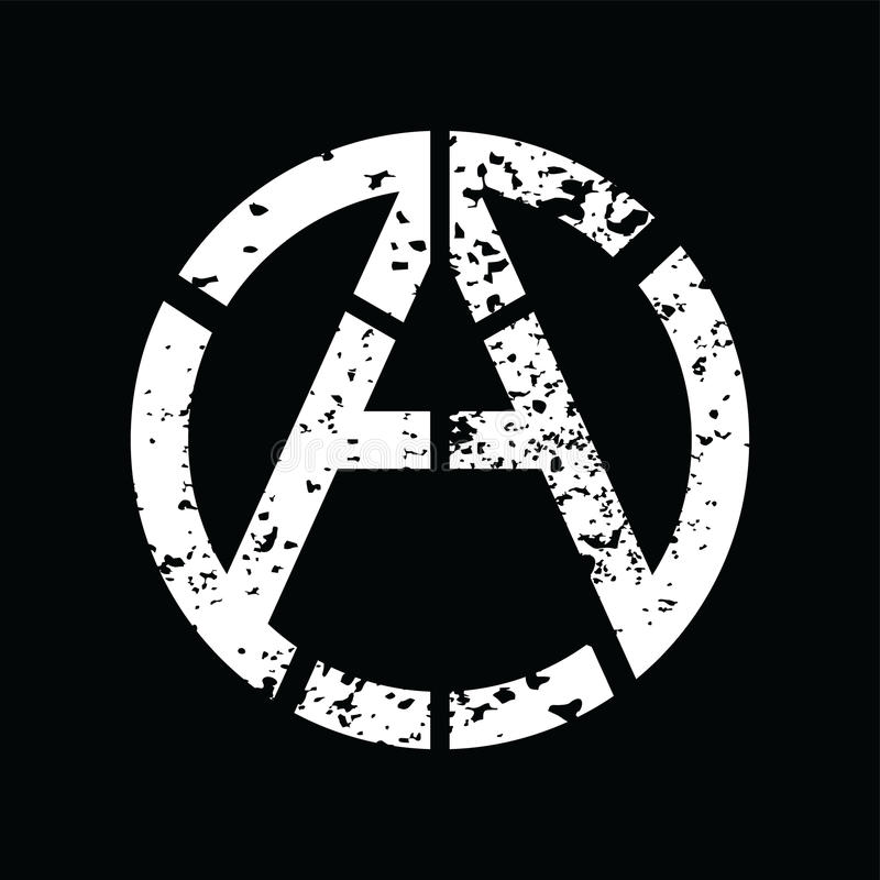 Anarchy Atheism Socialist Logo - Logotype. Vector Art royalty free illustration