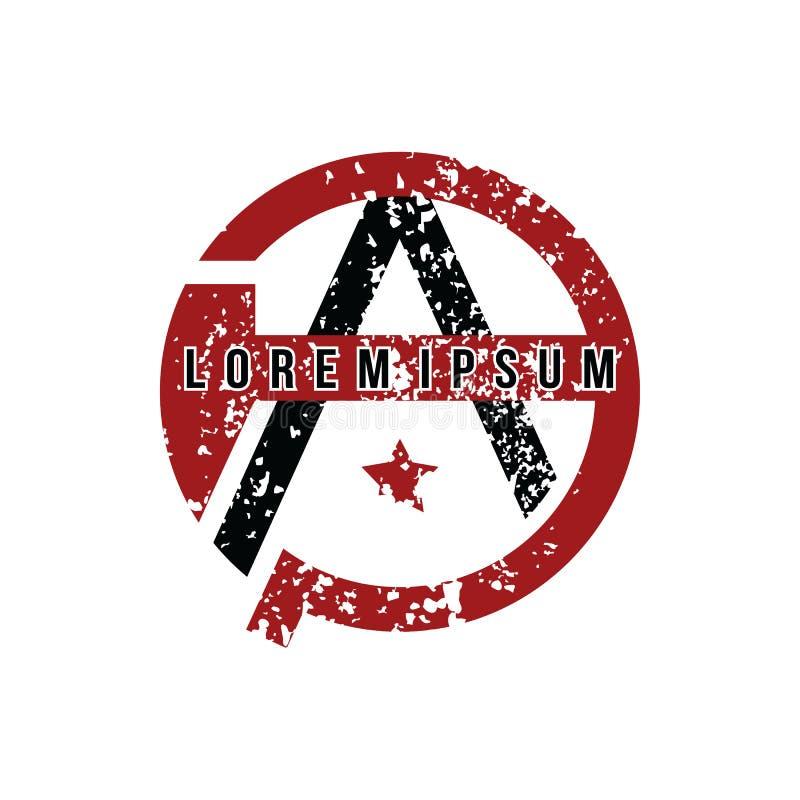 Anarchy Atheism Socialist Logo - Logotype vector illustration