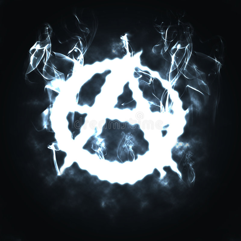 Download Anarchy sign in the smoke stock illustration. Illustration of curve - 9040885