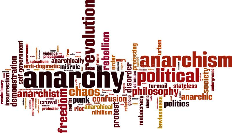Anarchy word cloud royalty free illustration