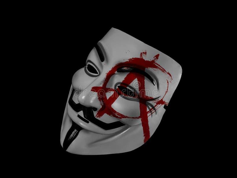 Anarquia anônima Guy Fawkes fotografia de stock royalty free