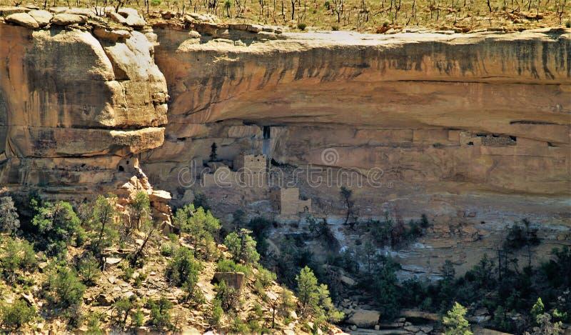 Anasazi fördärvar på Mesa Verde National Park arkivfoto