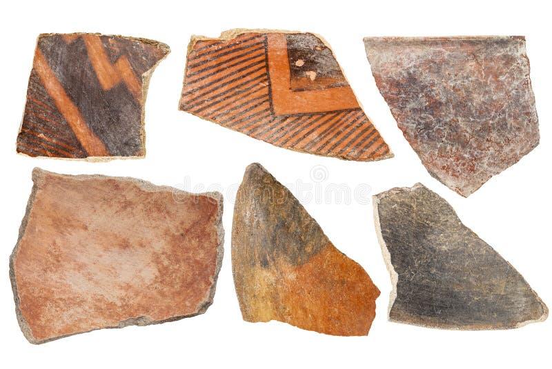Anasazi indische Tonwarenkunstprodukte stockbilder