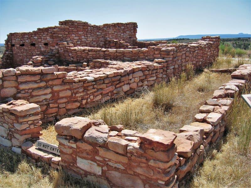 Anasazi-Maurerarbeit stockbild