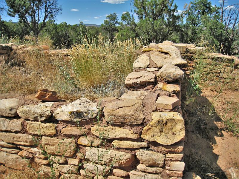 Anasazi-Maurerarbeit bei Mesa Verde National Park lizenzfreies stockfoto