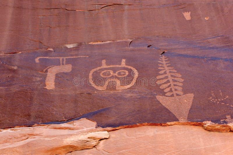 Anasazi Petroglyph royaltyfri foto