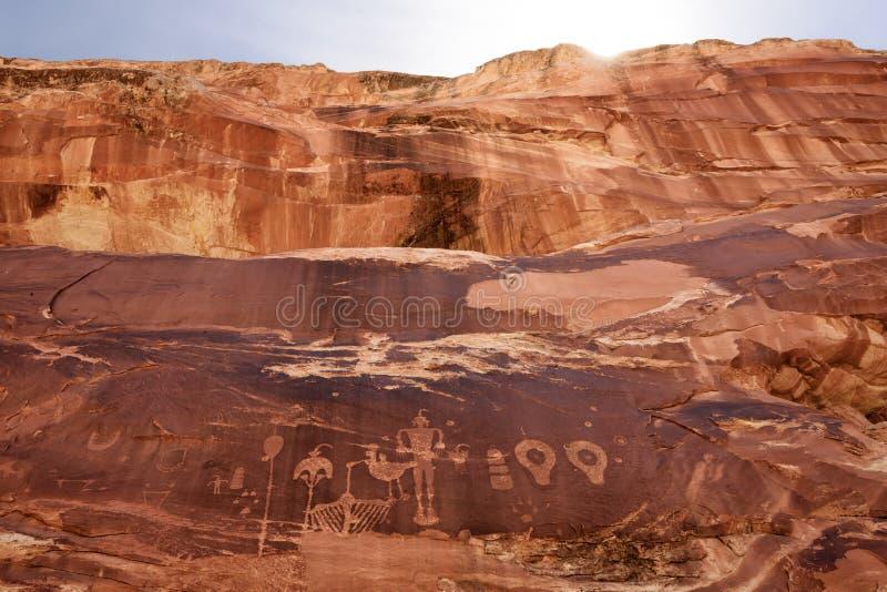 Anasazi Petroglyph arkivfoto