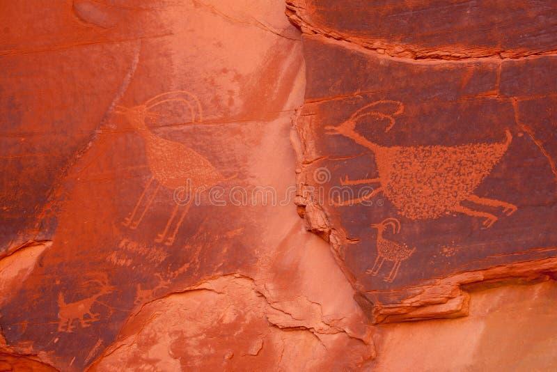 Anasazi-Petroglyphen lizenzfreies stockbild