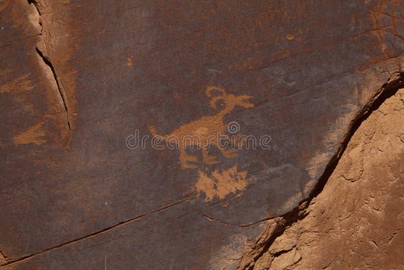 Anasazi petroglyphs arkivfoton