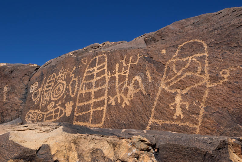 Anasazi Ridge Petroglyphs stockbild