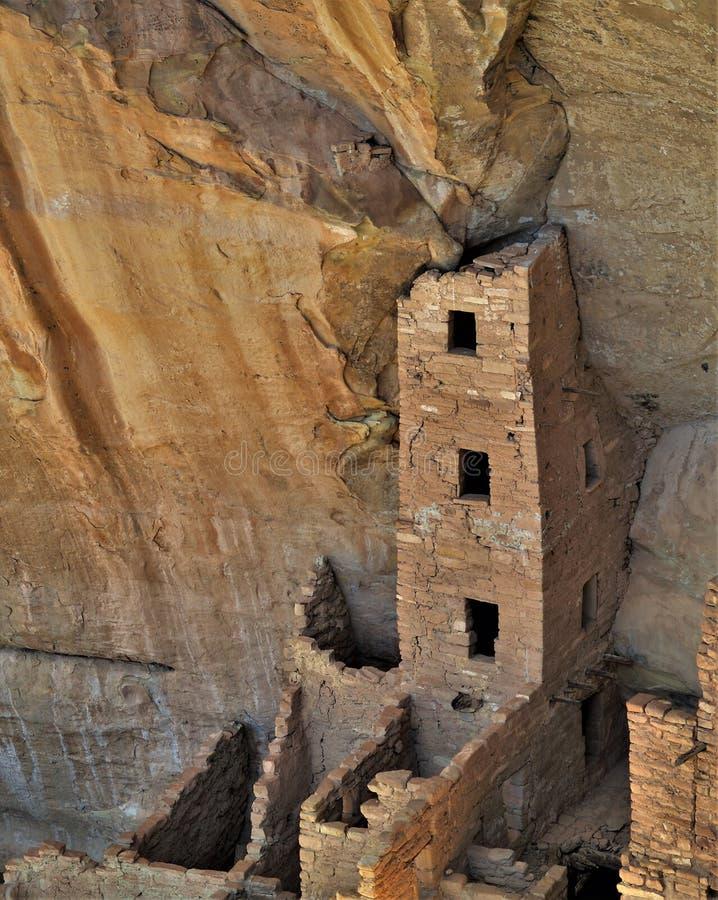 Anasazi-Ruinen bei Mesa Verde National Park stockfotos