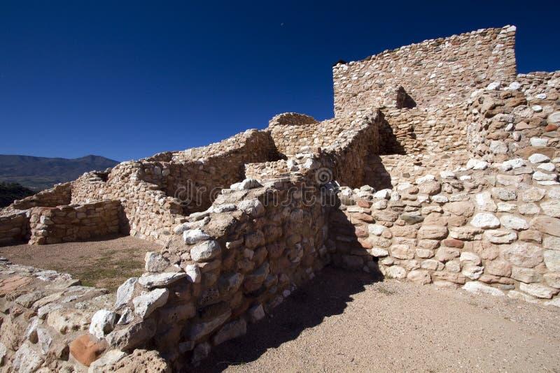 Anasazi Ruinen Tuzigoot am nationalen Denkmal stockbilder