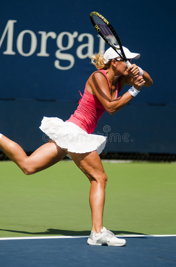 Download Anastasia Rodionova Backhand Stroke Us Open 2009 Editorial Stock Image - Image of york, competition: 10695159