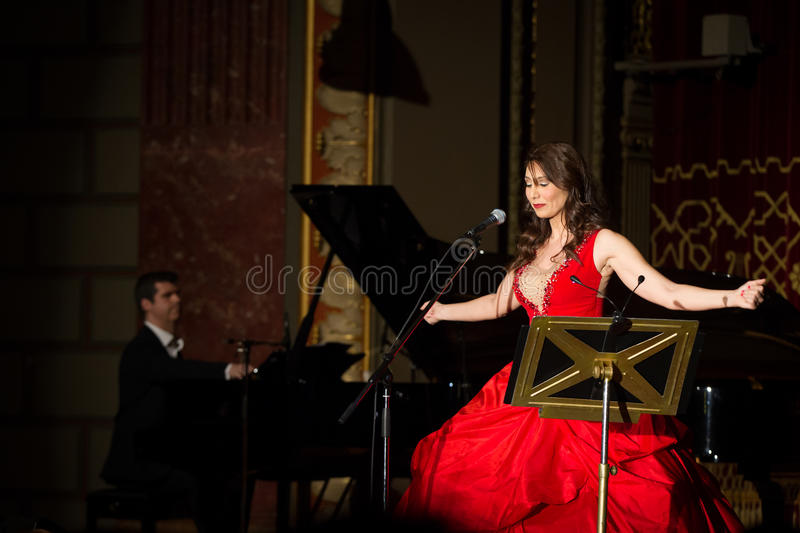Anastasia Zannis. Born and raised in Athens, soprano Anastasia Zannis studied at the Royal Academy of Music in London , specializing in jazz . Before Academy in royalty free stock photos