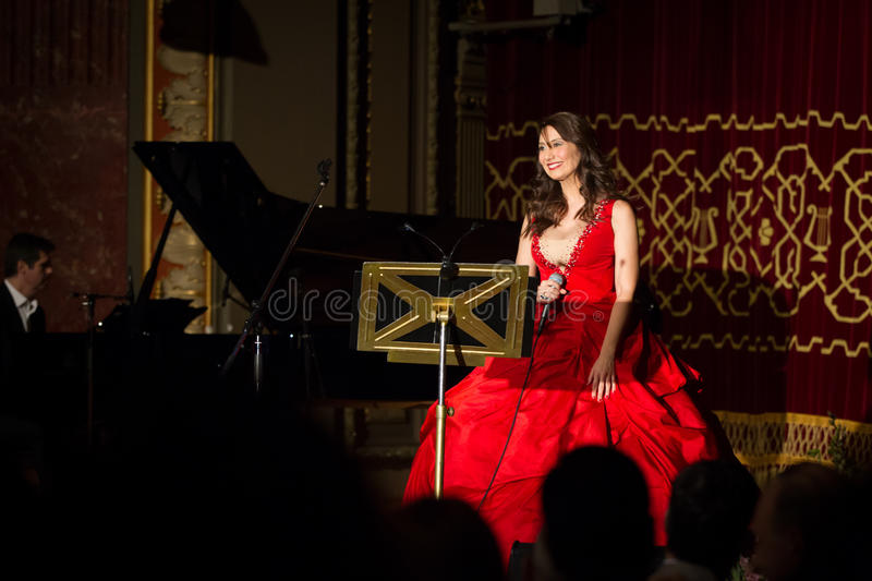 Anastasia Zannis. Born and raised in Athens, soprano Anastasia Zannis studied at the Royal Academy of Music in London , specializing in jazz . Before Academy in stock image