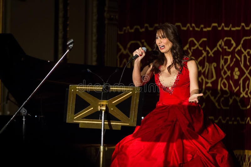 Anastasia Zannis. Born and raised in Athens, soprano Anastasia Zannis studied at the Royal Academy of Music in London , specializing in jazz . Before Academy in stock photo