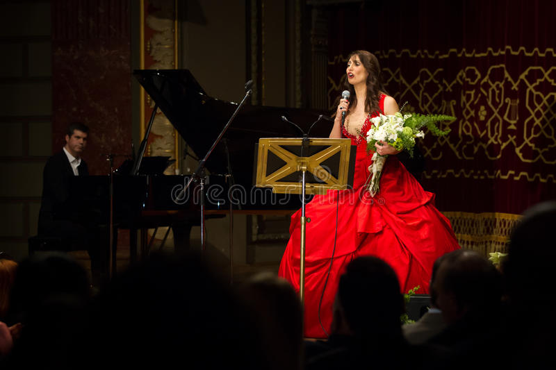 Anastasia Zannis. Born and raised in Athens, soprano Anastasia Zannis studied at the Royal Academy of Music in London , specializing in jazz . Before Academy in royalty free stock images