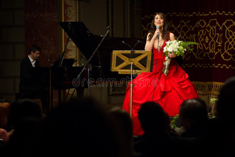 Anastasia Zannis. Born and raised in Athens, soprano Anastasia Zannis studied at the Royal Academy of Music in London , specializing in jazz . Before Academy in stock photos