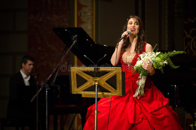 Anastasia Zannis. Born and raised in Athens, soprano Anastasia Zannis studied at the Royal Academy of Music in London , specializing in jazz . Before Academy in royalty free stock photo