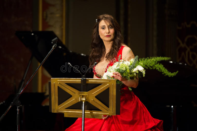 Anastasia Zannis. Born and raised in Athens, soprano Anastasia Zannis studied at the Royal Academy of Music in London , specializing in jazz . Before Academy in royalty free stock image