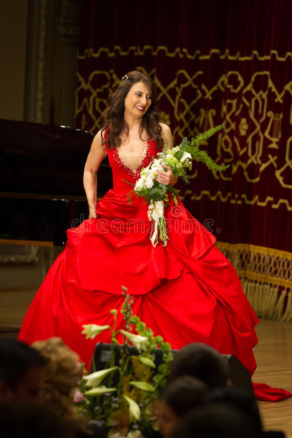 Anastasia Zannis II. Born and raised in Athens, soprano Anastasia Zannis studied at the Royal Academy of Music in London , specializing in jazz . Before Academy royalty free stock photography