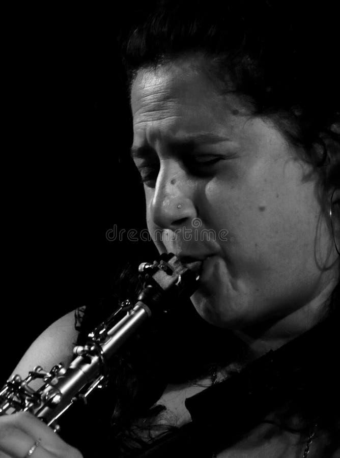 Anat Cohen bij de Jazz 2011 van Umbrië royalty-vrije stock foto's