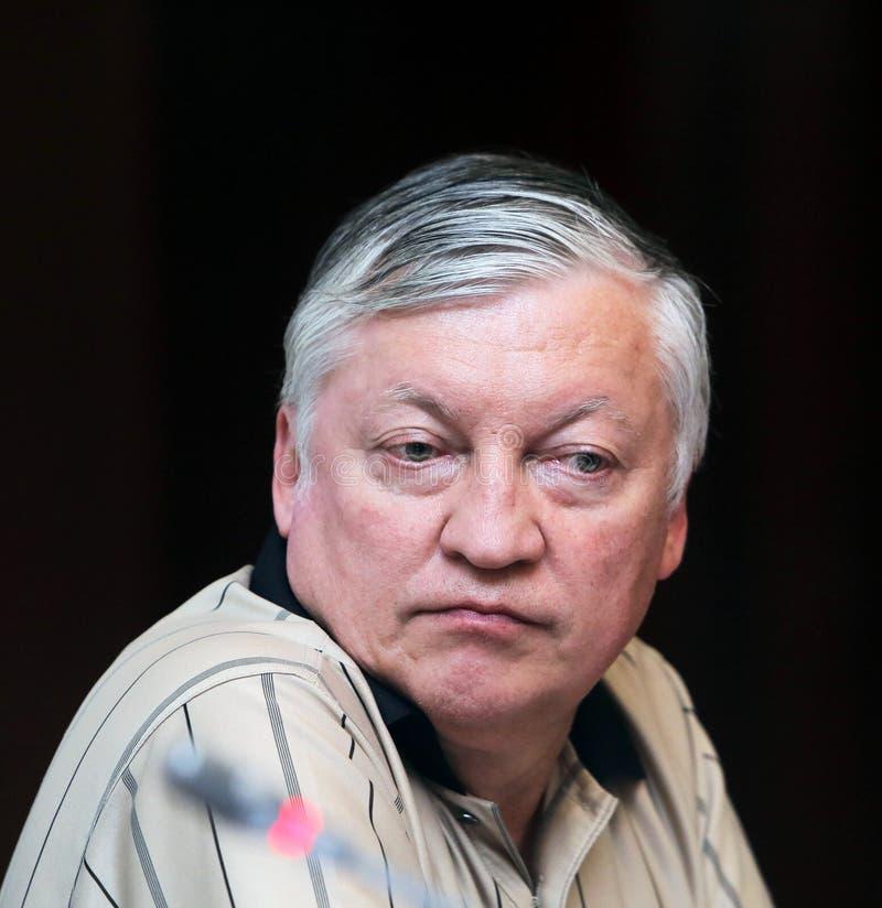 Anatoly Karpov il dodicesimo campione di scacchi del mondo immagine stock