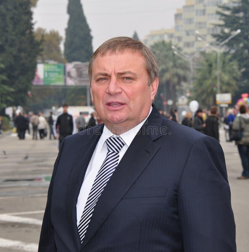 Anatoly Pakhomov, alcalde de Sochi, Rusia imágenes de archivo libres de regalías
