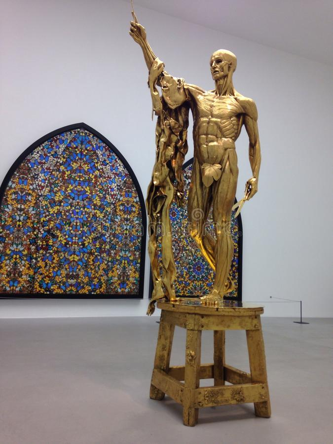 Anatomia della statua fotografie stock libere da diritti
