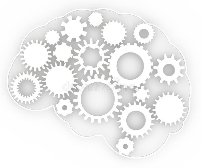 Anatomie de cerveau des idées de vitesse de corps humain illustration stock