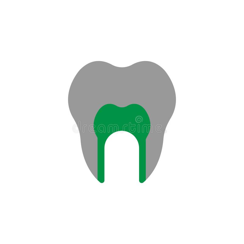 Anatomy and canal icon. Element of Dental Care icon for mobile concept and web apps. Detailed Anatomy and canal icon can be used stock illustration