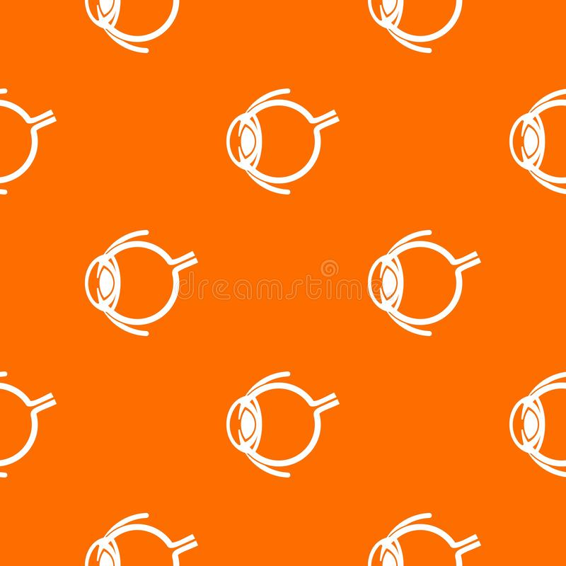 Anatomy of eye pattern vector orange. For any web design best stock illustration