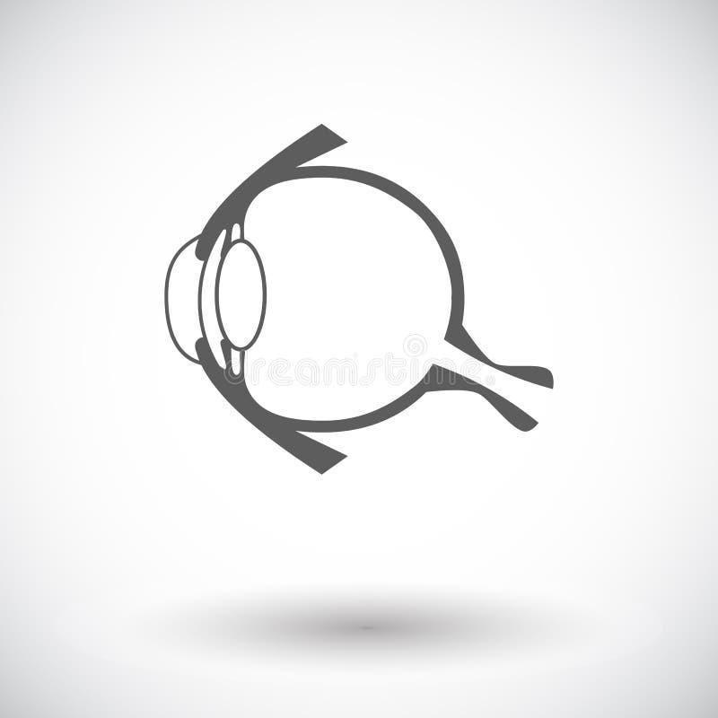 Anatomy eye. Single flat icon on white background. Vector illustration vector illustration