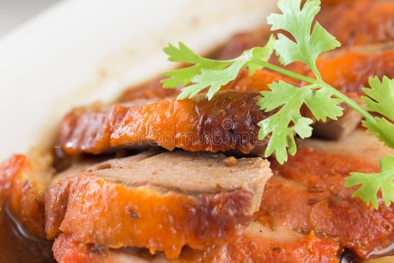 Anatra arrostita chiusa-su, alimento cinese immagine stock libera da diritti