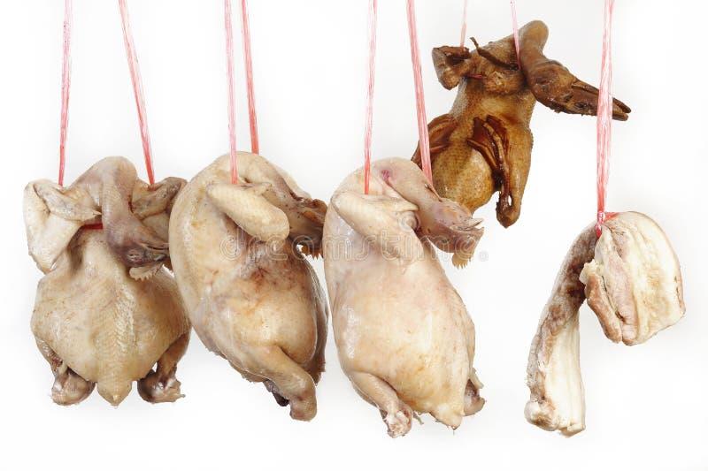Anatra del pollo e carne di maiale striata immagine stock libera da diritti