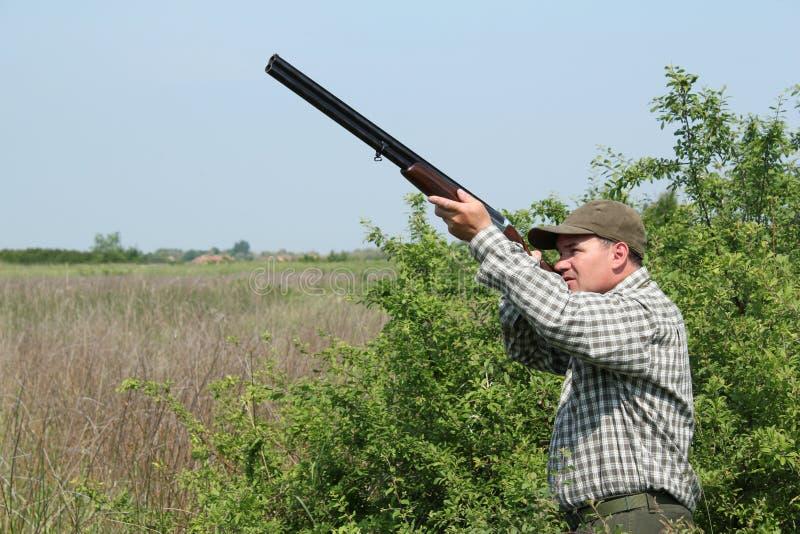 Anatra selvatica di caccia del cacciatore immagini stock libere da diritti