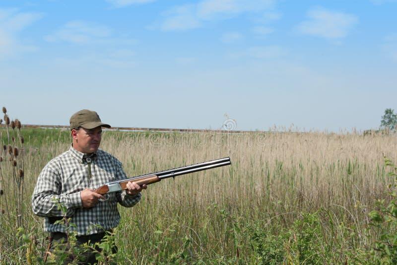 Anatra selvatica di caccia del cacciatore fotografia stock libera da diritti