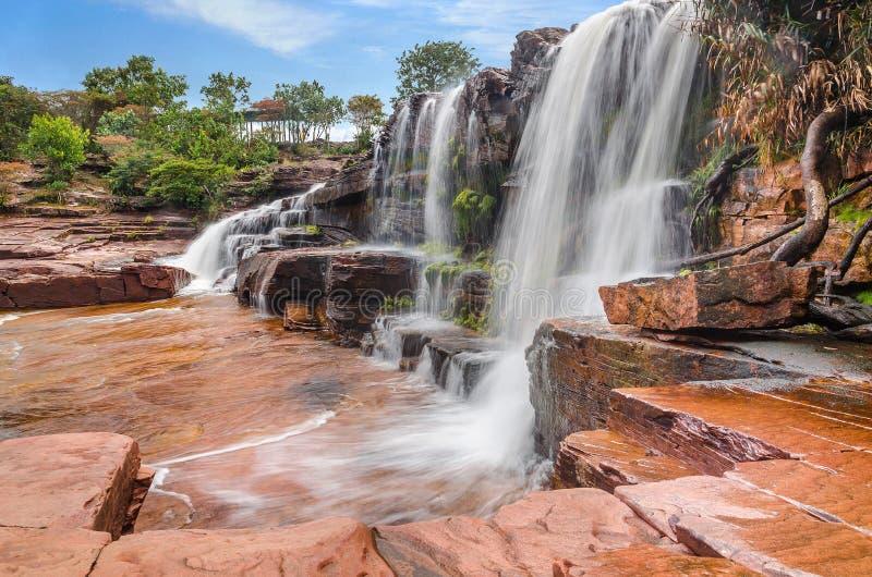 Anawy瀑布,委内瑞拉 库存图片