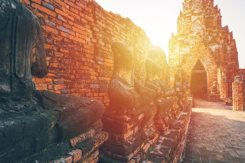 Anbetung von Thailand, Buddha-Statue, Geschichte von Thailand stockbild